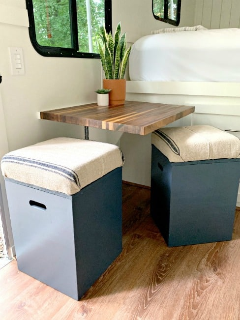DIY Upholstered Storage Ottomans