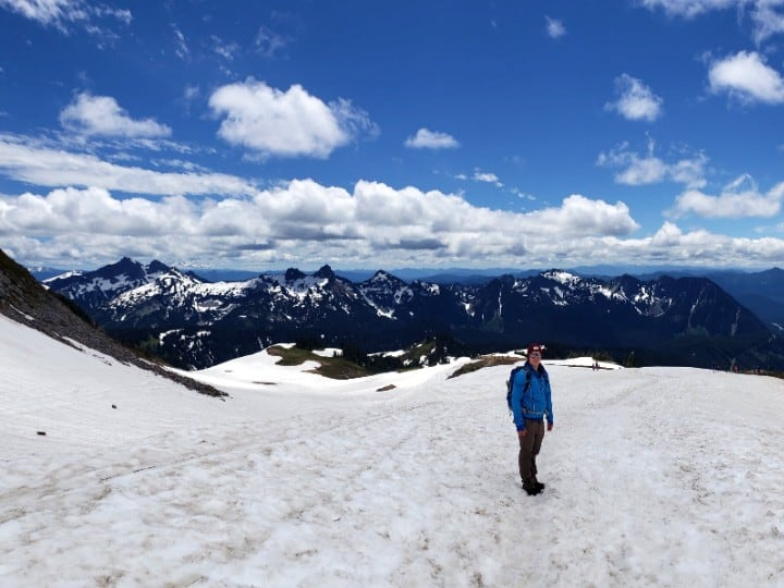 view on snow from panorama point trail