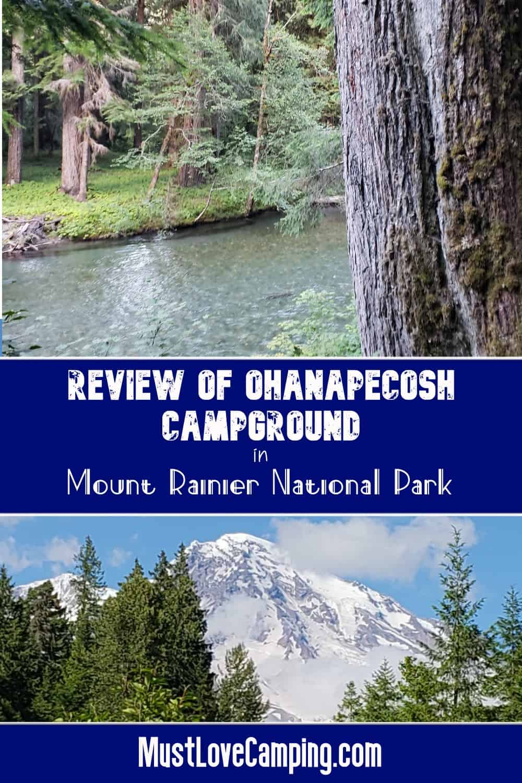 ohanapecosh river and mount rainier