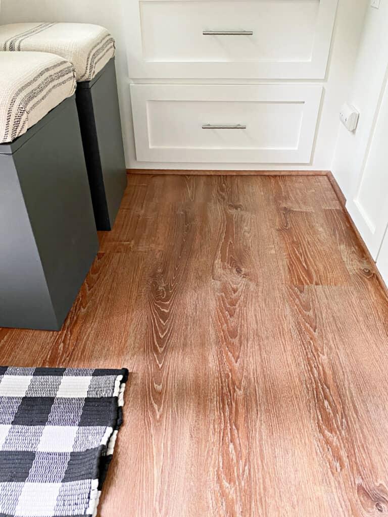 vinyl plank flooring in small rv