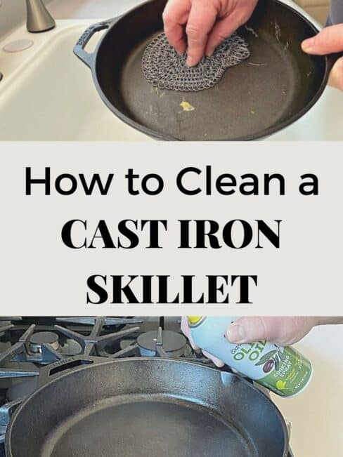 cleaning a cast iron skillet