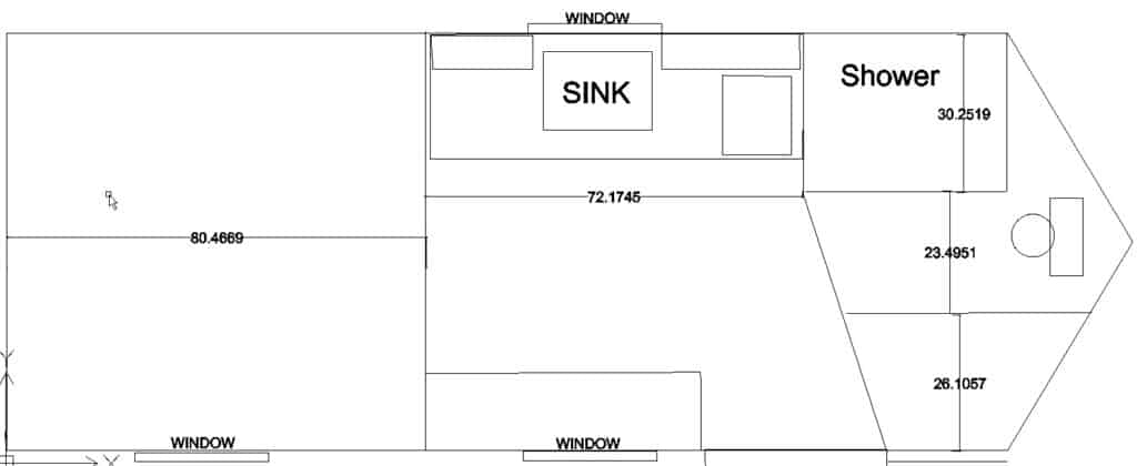 sketch of layout of cargo trailer