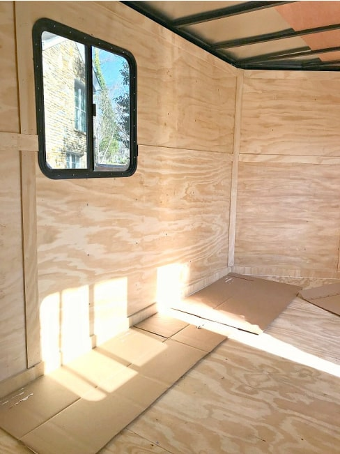 inside view of cargo trailer
